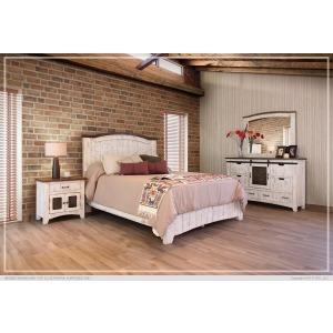 Pueblo Platform Bed Dresser & Mirror