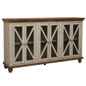 Florence 6 Door Console - Gray Finish