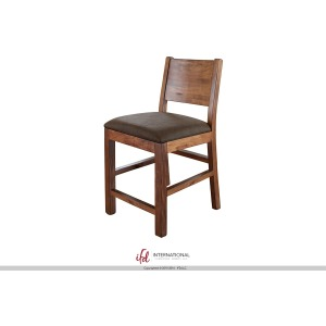"30"" Barstool with faux leather seat"