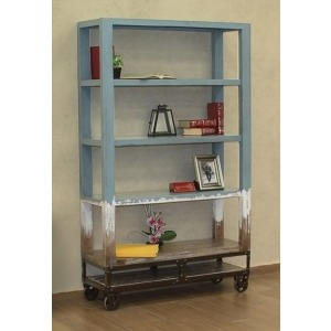 "URBANA BLUE 70"" BOOKCASE"