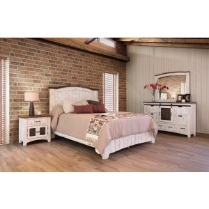 Pueblo White 4 PC King Bedroom Set