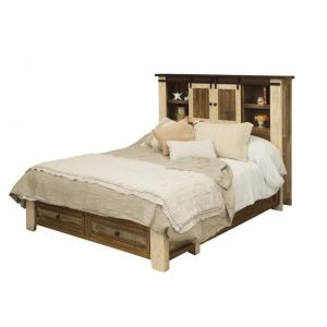 Antique Queen Storage Bed