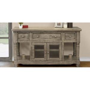 "Botero Gray 60"" TV Stand - 3 Drawer 2 Door"