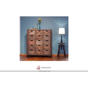 Multi-drawer Console w/15 numbered drawers, multicolor finish