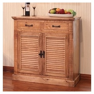 2 Drawer, 2 Door Server - Natural Finish