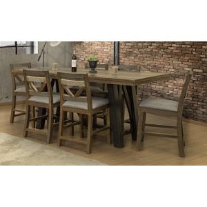 Loft Brown 7 PC Counter Dining Set