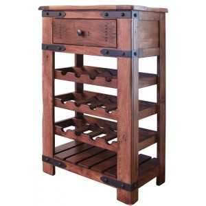 Wine Rack 1 Drawer, 3 Bottle holder fixed shelves