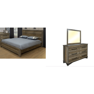 Loft Brown 3PC Queen Bedroom Set