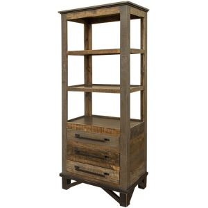 Loft Brown 3 Drawers, Pier for Wall Unit
