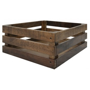 Maya Wood Crate Natural Brown Finish