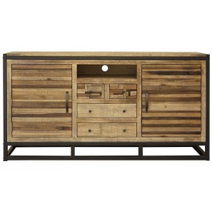 Sonoma 4 Drawer & 2 Doors TV Stand, w/ Iron base