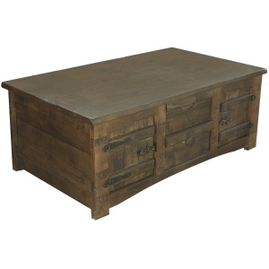 Mezcal Cocktail Table w/ 4 Drawers & 4 Doors