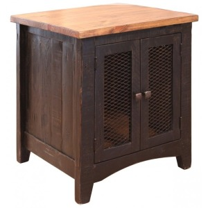 2 Mesh doors End Table