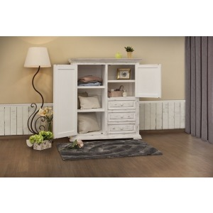 Terra White 3 Drawer, 2 Door Gentleman´s Chest