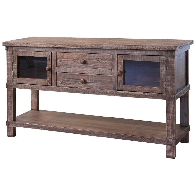 Sofa Table W 2 Drawers Gl Doors