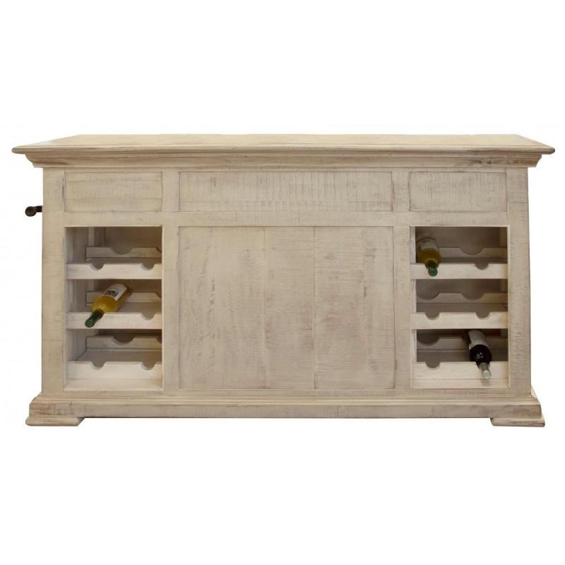 Vintage Kitchen Island w/ Bottle Rack & Shelves by ...