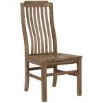 Vertical Slat Side Chair - Natural Maple