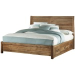 Queen Plank Bed w/Storage Footboard