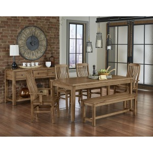 7 PC Trestle Dining Set