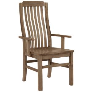 Vertical Slat Arm Chair - Natural Maple