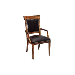 Ringo Upholstered Back Arm Chair, leather