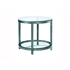 Per Se Round End Table, glass