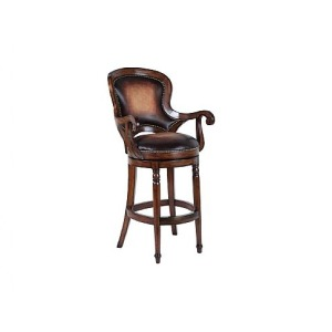 Churchill Swivel Barstool, leather
