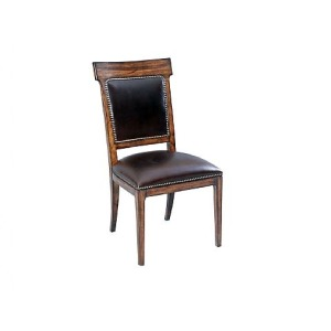 Ringo Upholstered Back Side Chair, leather