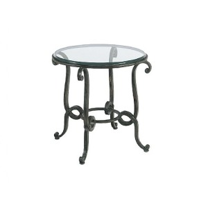 Laverne Round End Table, glass