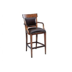 Ringo Upholstered Back Barstool, leather