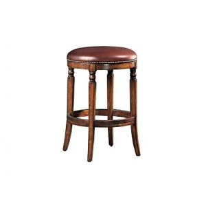 Winston Backless Counter Stool, leather, swivel