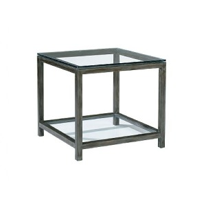 Per Se Square End Table, glass