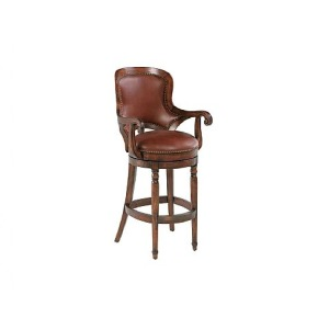 Winston Counter Stool, leather, swivel