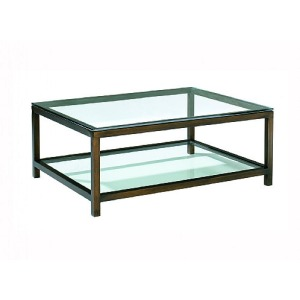 Per Se Rectangular Cocktail Table, glass