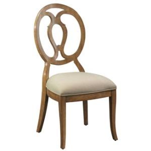 Axiom Wood Back Side Chair, fabric