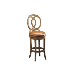 Axiom Wood Back Counter Stool, leather, swivel