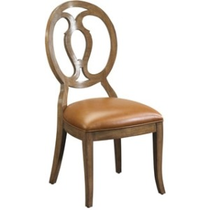 Axiom Wood Back Side Chair, leather
