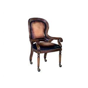 Churchill Caster Arm Chair, leather