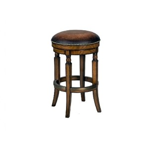 Churchill Backless Swivel Counter Stool, leather