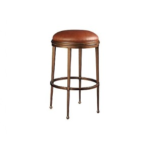Greenwich Backless Counter Stool, leather
