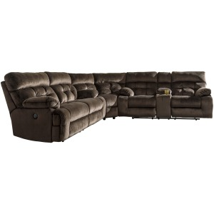 Brassville 3-Piece Reclining Sectional with Power