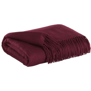 Ashton - Burgundy Throw