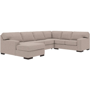 Ashlor Nuvella® 4-Piece Sectional with Chaise and Sleeper