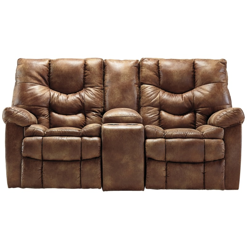 Darshmore Power Glider Reclining Loveseat With Console By