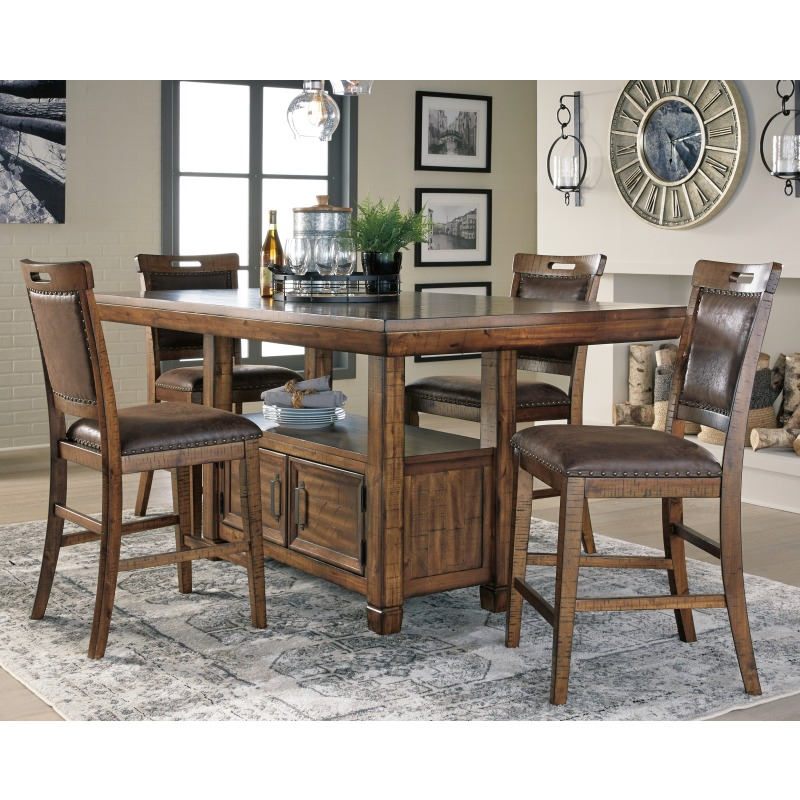 Magnificent Royard Counter Height Dining Room Table D765 32 Michael Caraccident5 Cool Chair Designs And Ideas Caraccident5Info