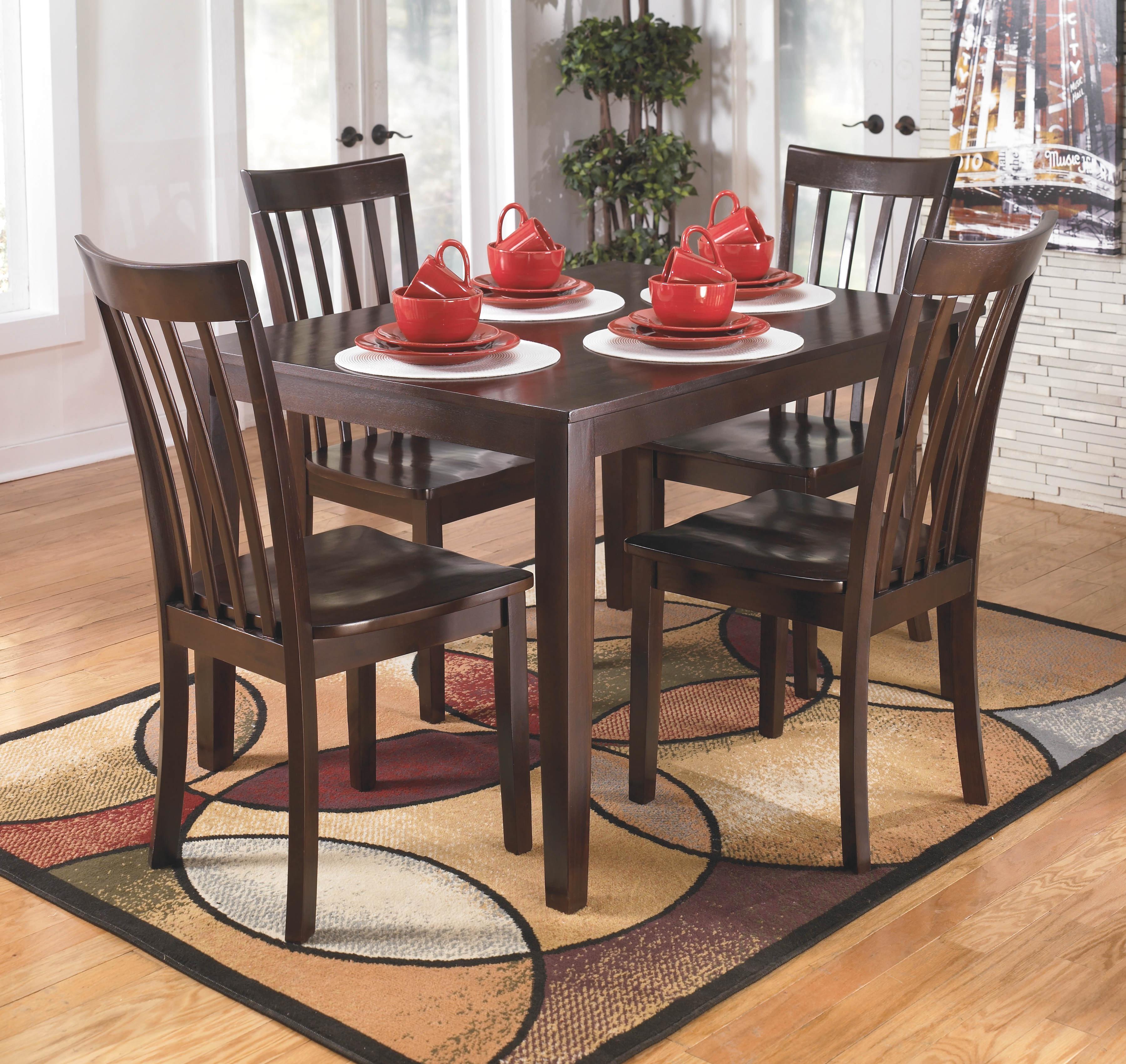Dining Table Set By Ashley Furniture D258 225 The Furniture Mall