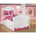 Exquisite Twin Sleigh Bed with Storage