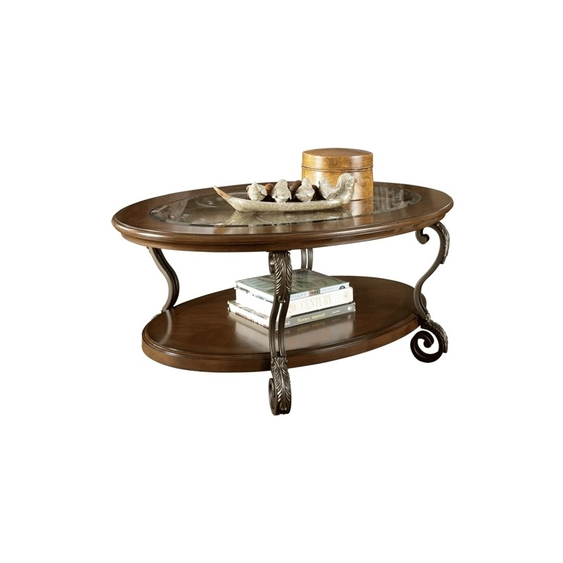 Cool Oval Cocktail Table By Ashley Furniture T517 0 Tomlinson Beutiful Home Inspiration Semekurdistantinfo