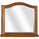 Oxford Whiskey Brown Arched Mirror