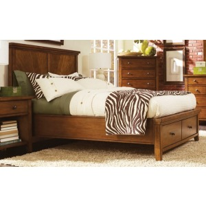 Cross Country King Panel Bed with Storage Footboard